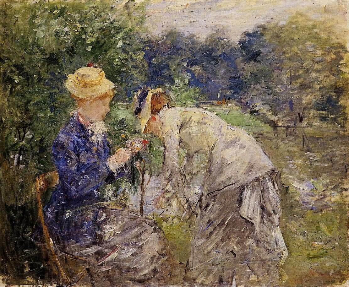 In the Bois de Boulogne,由 Berthe Morisot 所繪